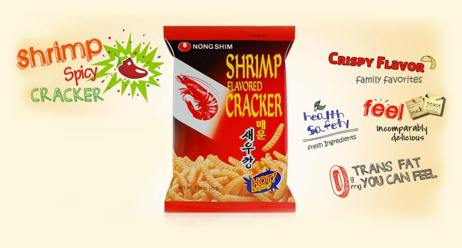 Snack tôm cay nongshim nhập khẩu Hàn Quốc