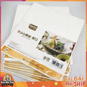 Giấy thấm dầu ăn Seria Nhật Bản - Set 50 tờ