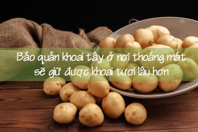 Những công dụng của khoai tây